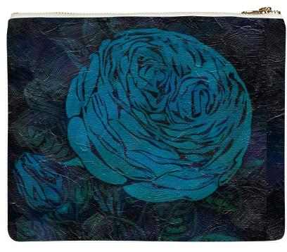Blueberry Roses Neoprene Clutch