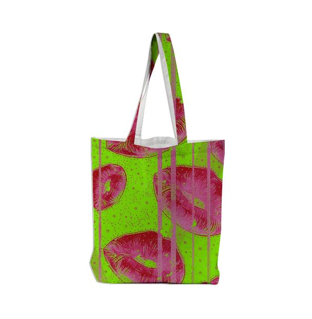 Lemon Lime Strawberry Kisses Tote Bag