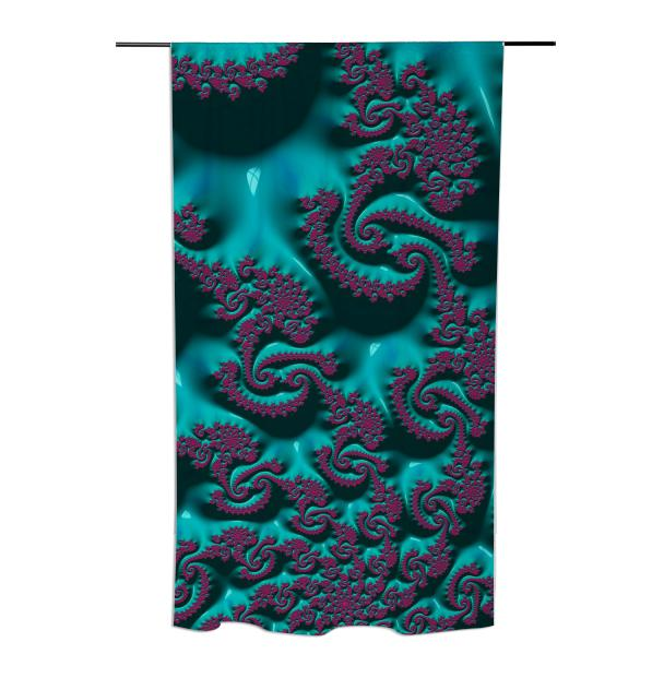 Gorgeous Turquoise Purple Curtain