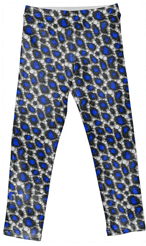 Blue Cheetah Bling Kid s Leggings