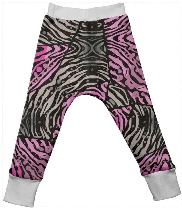 Pink Zebra Kids Drop Pants