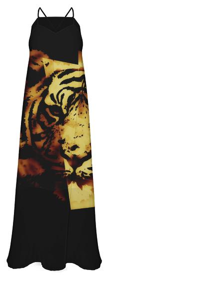 Release The Tiger Chiffon Maxi Dress