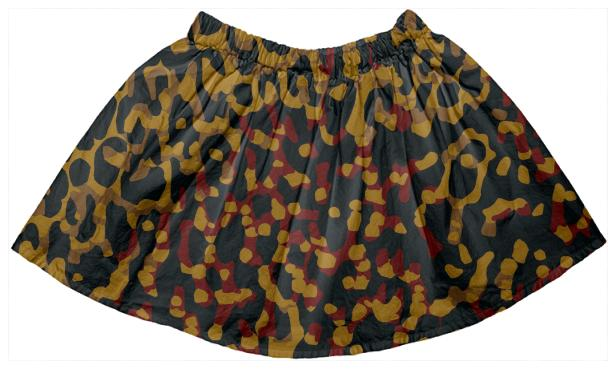 Earth Tone Cheetah Abstract Kid s Skirt