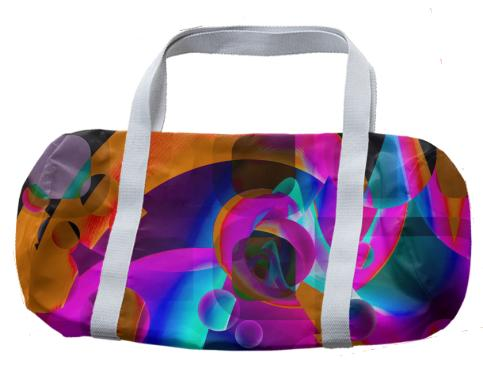 Psychedelic Abstract Duffle Bag