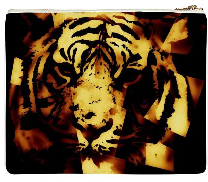 Gold Tiger Abstract Neoprene Clutch