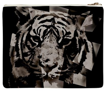 Beautiful Black Abstract Tiger Neoprene Clutch