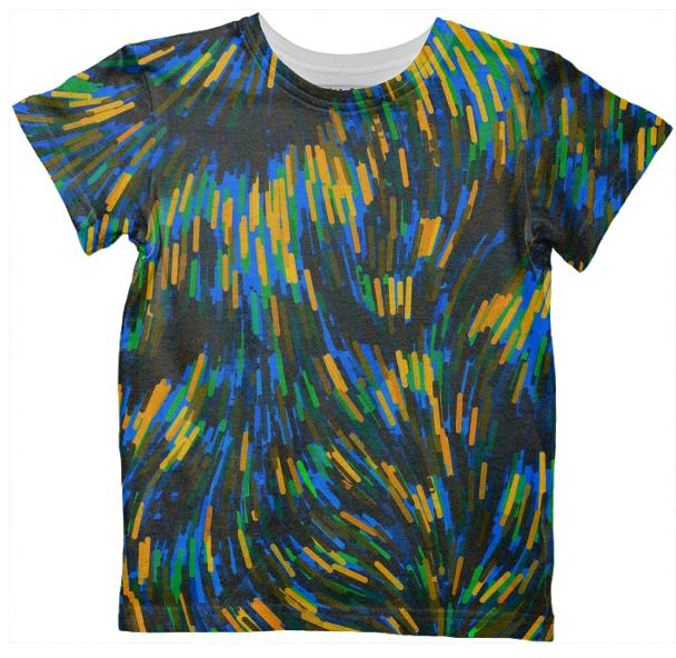 Bright Bold Abstract Kid s All Over Print Tshirt