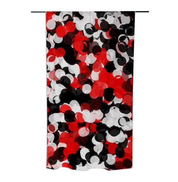 Red Black Polka dot Curtain