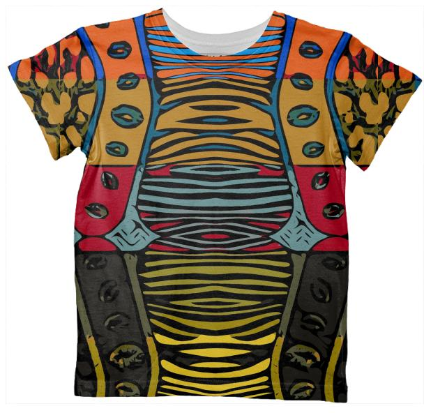Cartoon Zebra All Over Print Kid s Tshirt