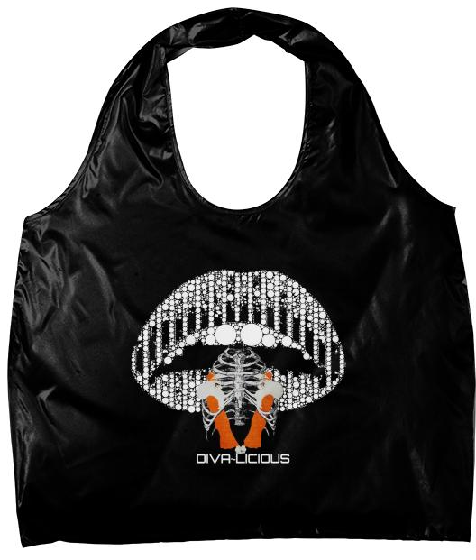Bling Lips Retro Skull Eco Tote