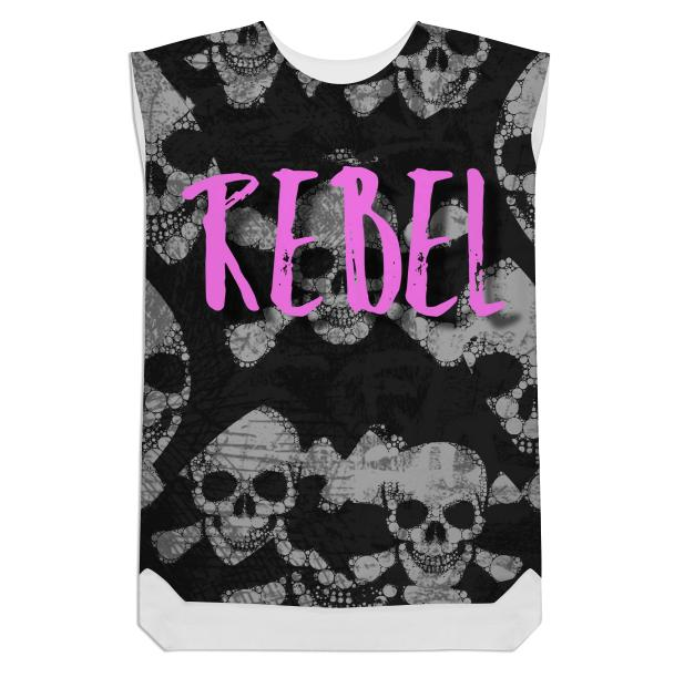 Skull bone Rebel Shift Dress