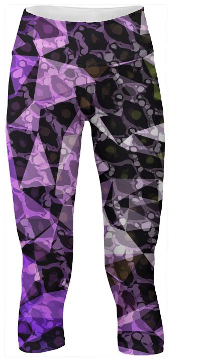 Purple Black Triangle Yoga Pants