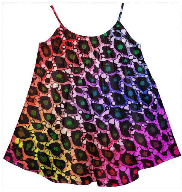 Florescent Cheetah Print Girl s Tent Dress