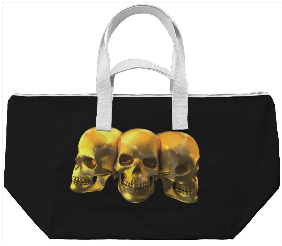 Golden Skulls Bag