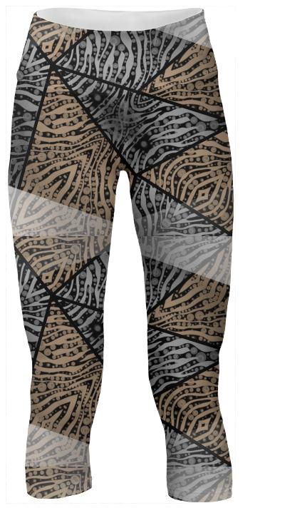 Chocolate Silver Zebra Yoga Pants