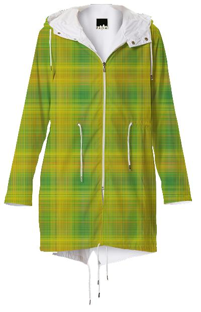 Yellow and Green Plaid Raincoat