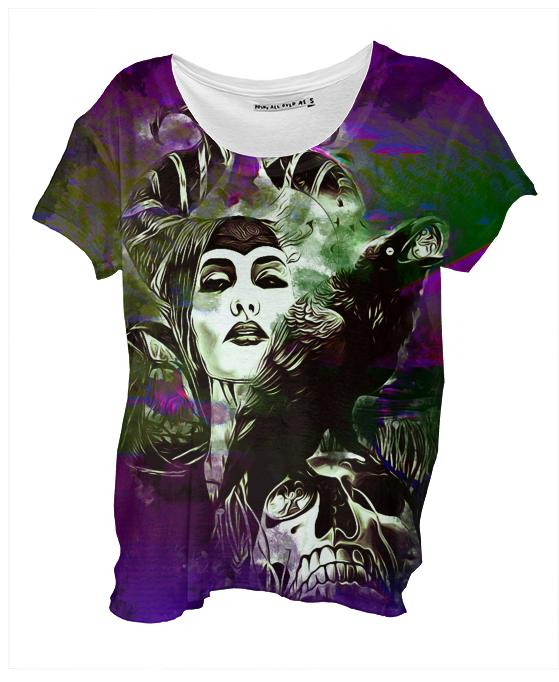 MALEFICENT Drape Shirt