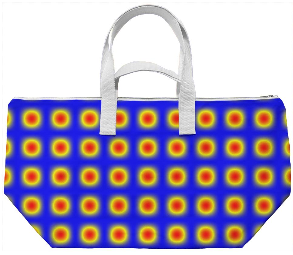 Red Yellow Blue Circle Patterned Weekend Bag