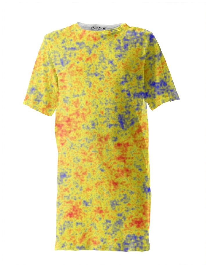 Red Yellow Blue Perlin Noise Tall Tee