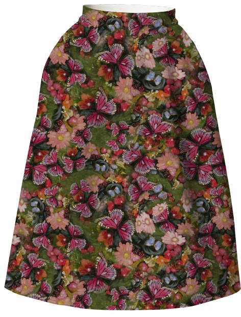 Butterfly Garden Neoprene Full Skirt