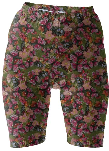 Butterfly Garden Bike Shorts