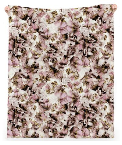 Sweet Pea Petals Linen Beach Towel