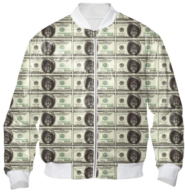 Gimme The Loot Biggie Face 100 All Over Print Bomber Jacket