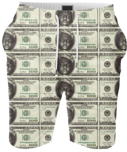 Gimme The Loot Biggie Face 100 All Over Print Summer Shorts