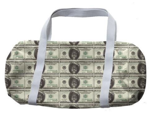 Gimme The Loot Biggie Face 100 All Over Print Duffle Bag