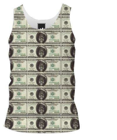 Gimme The Loot Biggie Face 100 All Over Print Tank Top Men