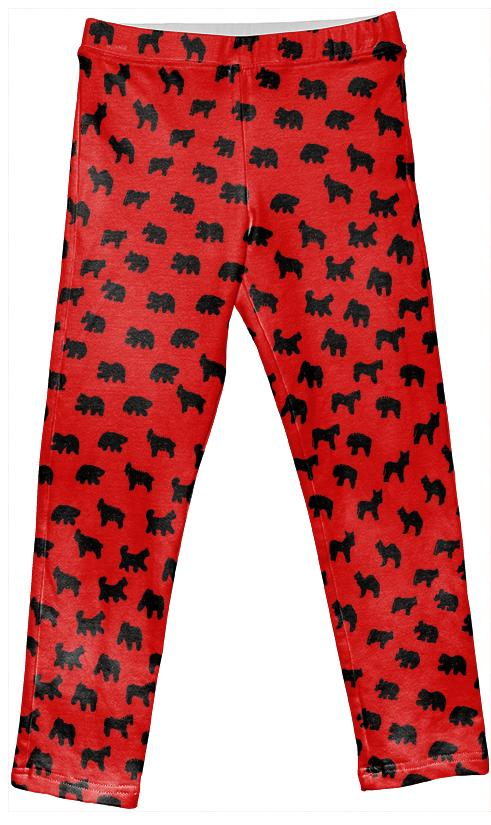 Kid s Animal Cracker Leggings in Ladybug Colors by Muffy Brandt