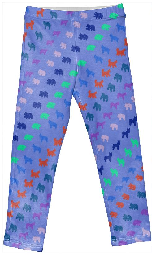 Kid s Animal Cracker Leggings in Rainbow Haze by Muffy Brandt