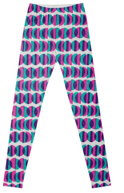 Half Moon Leggings in Pink and Blue by Muffy Brandt