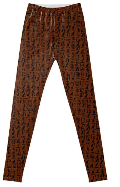 PAOM, Print All Over Me, digital print, design, fashion, style, collaboration, muffybrandt, Leggings, Leggings, Leggings, Hieroglyph, canyon, brown, muffy, brandt, autumn winter spring summer, unisex, Spandex, Bottoms