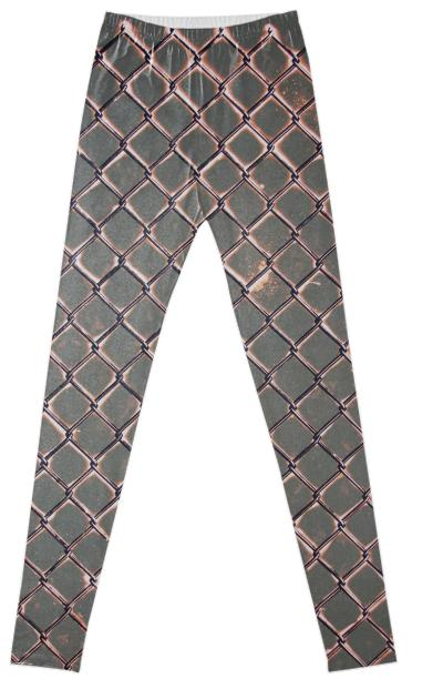 Chain Link Bleached Leggings in Army Green by Muffy Brandt