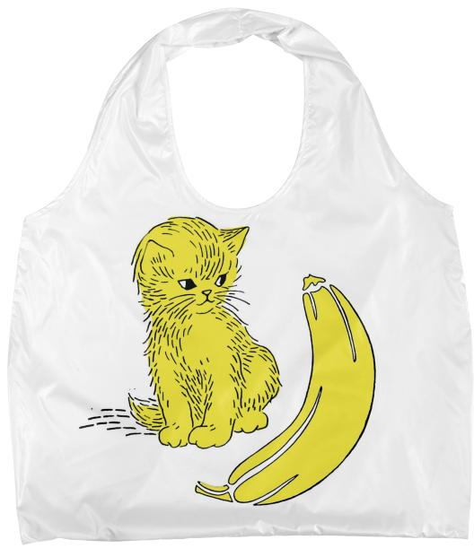 Kitty Kat Banana Eco Tote