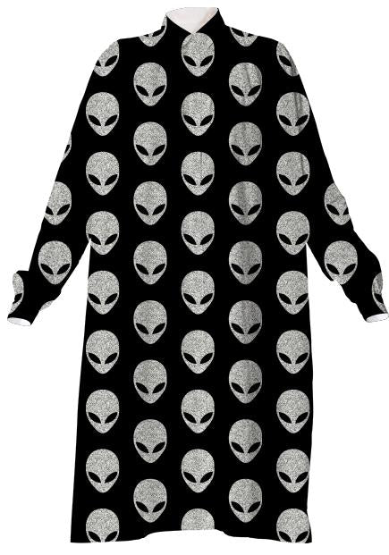 Glitter Grey Alien VP Shirtdress