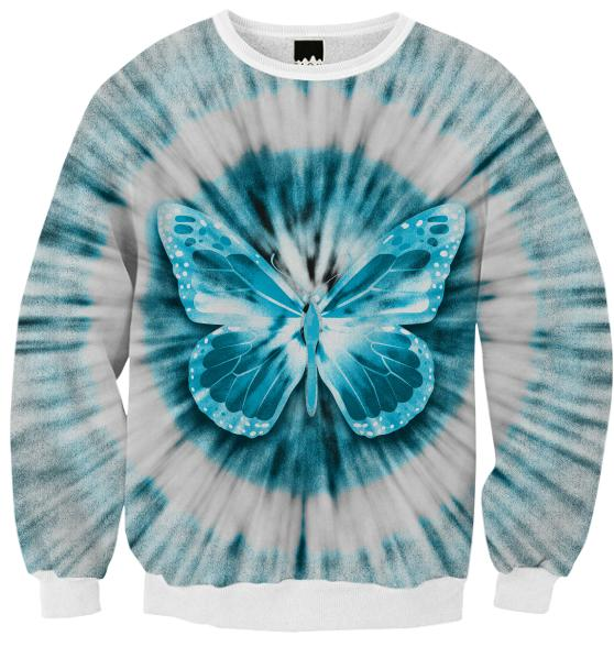 Rising Butterfly Ribbed Sweatshirt