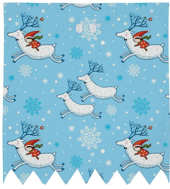 Riding Reindeer Christmas Pattern