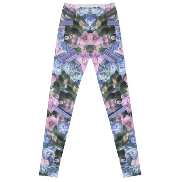 Woven Orchids Lilac Leggings