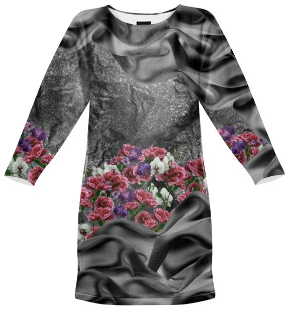 Fabric Garden Black Sweatshirt Dress