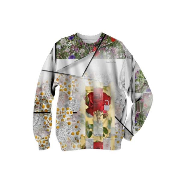 PAOM, Print All Over Me, digital print, design, fashion, style, collaboration, pinar_viola, Cotton Sweatshirt, Cotton-Sweatshirt, CottonSweatshirt, Emancipation, Flowers, autumn winter, unisex, Cotton, Tops