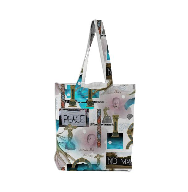 PAOM, Print All Over Me, digital print, design, fashion, style, collaboration, pinar_viola, Tote Bag, Tote-Bag, ToteBag, Mother, Earth, autumn winter spring summer, unisex, Poly, Bags