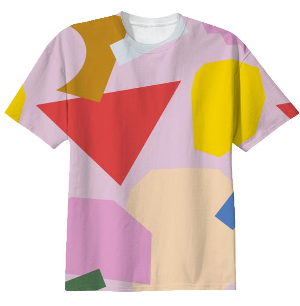 Pink Collage T shirt