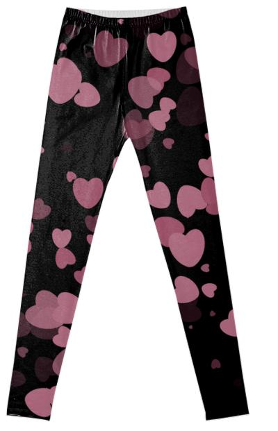 Pink Hearts Fancy Leggings