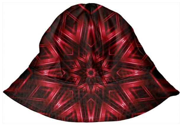 Red Kaleidoscope Kid s Bucket Hat