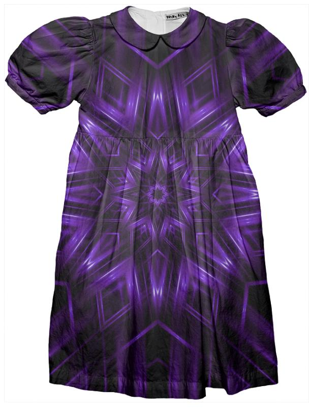 Glossy Purple Kaleidoscope Kids Party Dress