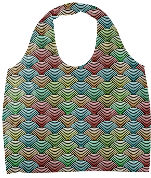 Colorful Oriental Concentric Circles Eco Tote