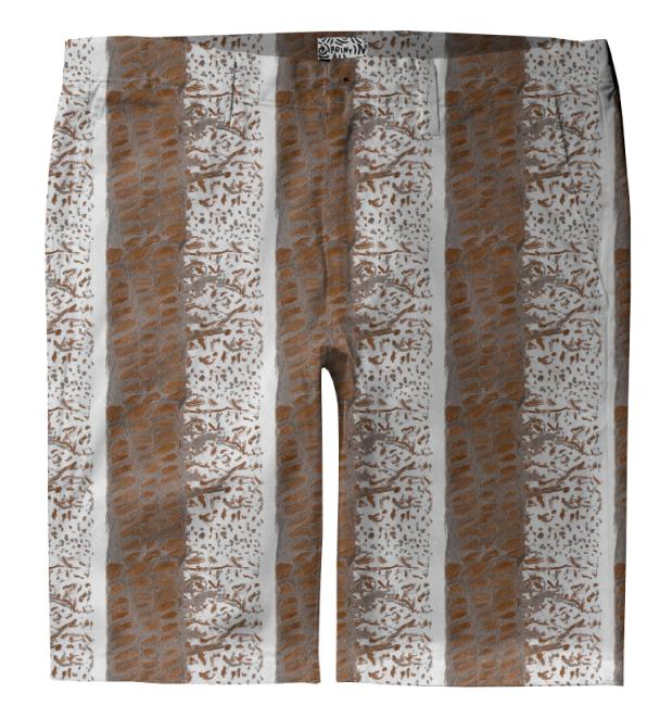 Bronze Alligator Trouser Shorts