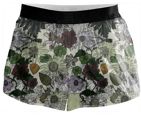 White Garden Running Shorts
